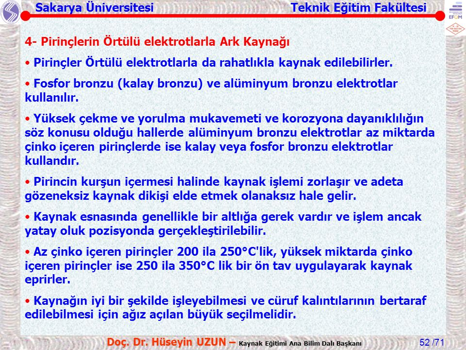 Sakarya Üniversitesi Teknik Eğitim Fakültesi /71 Doç.