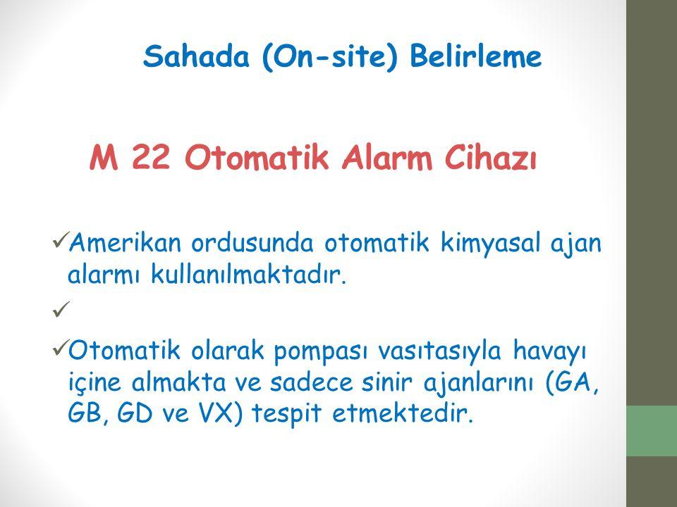 M 22 Otomatik Alarm Cihazı Amerikan ordusunda otomatik kimyasal ajan alarmı kullanılmaktadır.