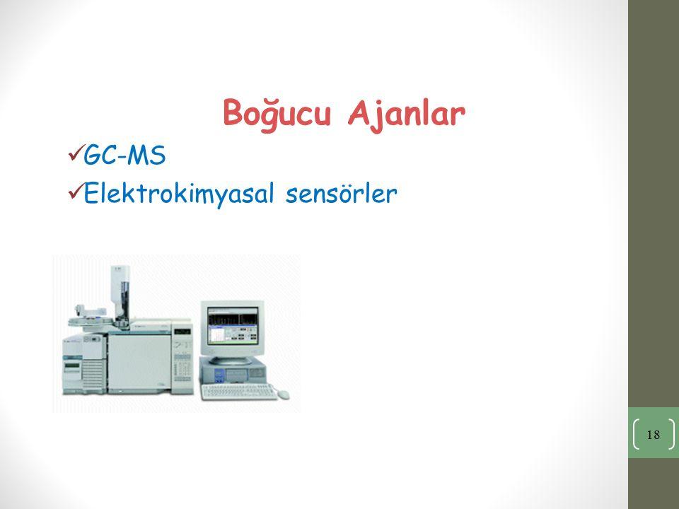 Boğucu Ajanlar GC-MS Elektrokimyasal sensörler 18