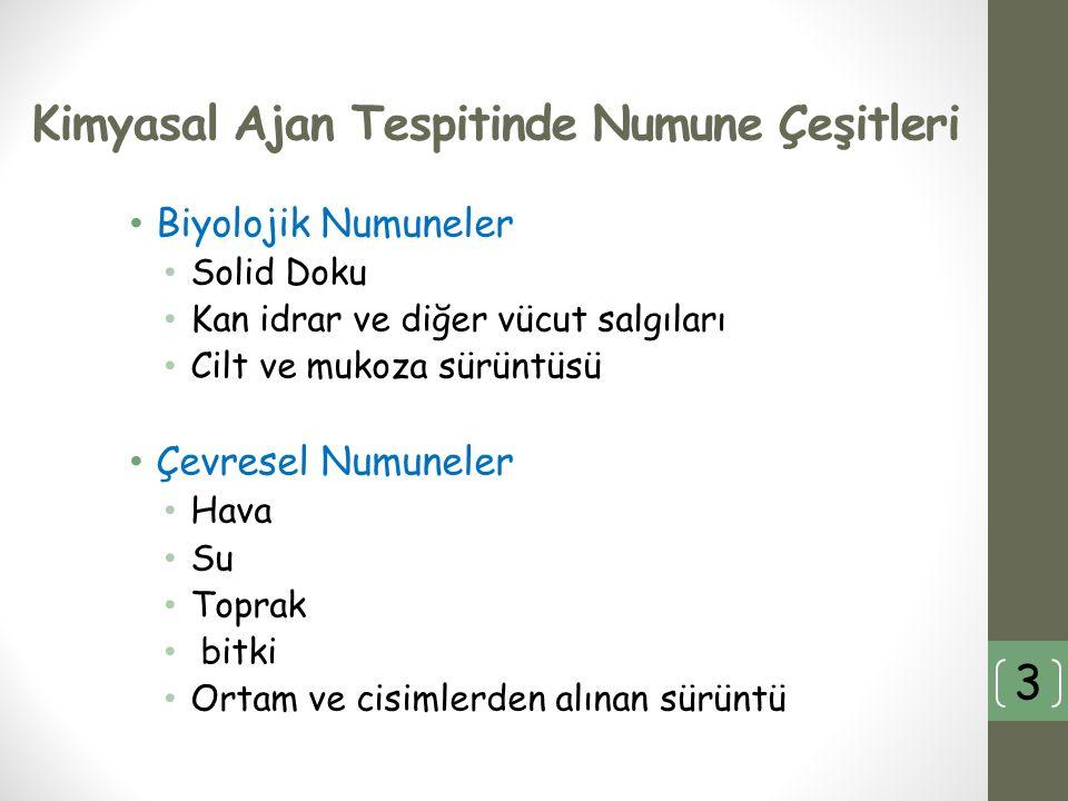 Tespit ve Analiz Sahada (On-site) Belirleme Laboratuvar analizleri 4
