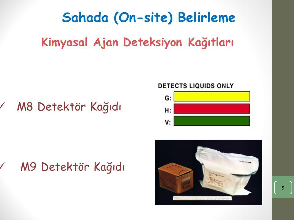 Kimyasal Ajan Deteksiyon Kağıtları M8 Detektör Kağıdı M9 Detektör Kağıdı 5 Sahada (On-site) Belirleme