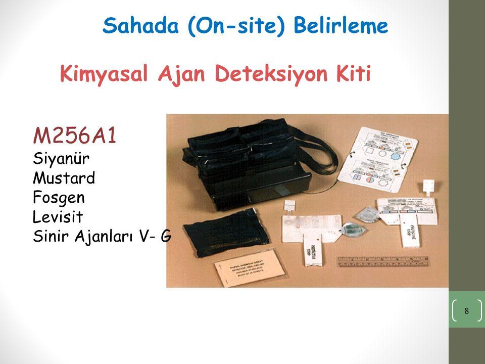 8 Kimyasal Ajan Deteksiyon Kiti M256A1 Siyanür Mustard Fosgen Levisit Sinir Ajanları V- G Sahada (On-site) Belirleme