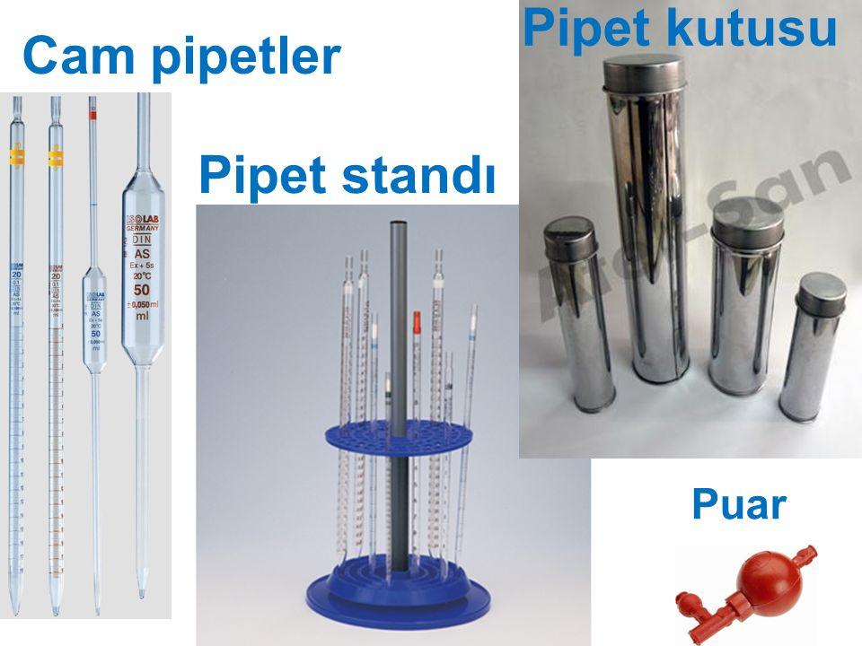 Cam pipetler Puar Pipet standı Pipet kutusu