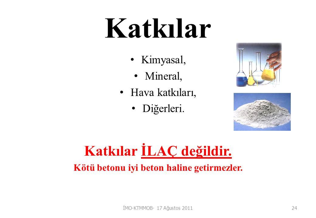 Katkılar Kimyasal, Mineral, Hava katkıları, Diğerleri.