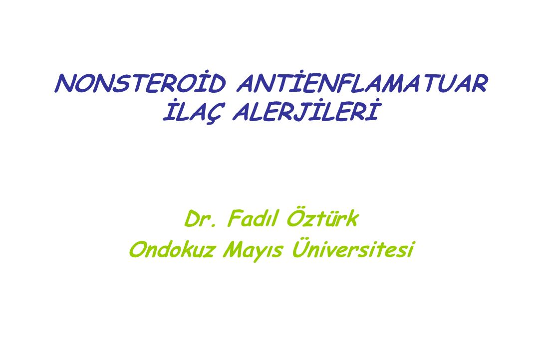 Antipryne: Ludwig Knorr 1883  1930, agranulositozis Acetylsalicylic acid: Felix Hoffman 1897, Bayer, Aspirin Phenylbutazone: 1952 İndomethacin:1960'lar İbuprofen: 1960'lar NONSTEROİD ANTİENFLAMATUAR İLAÇLAR