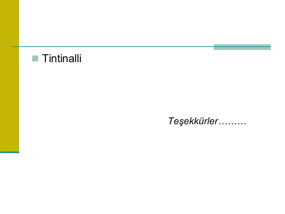 Tintinalli Teşekkürler………
