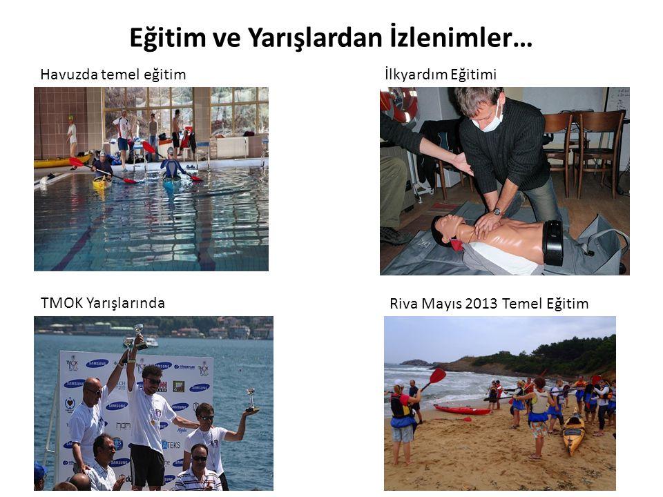 Eğitim ve Yarışlardan İzlenimler… Havuzda temel eğitimİlkyardım Eğitimi TMOK Yarışlarında Riva Mayıs 2013 Temel Eğitim