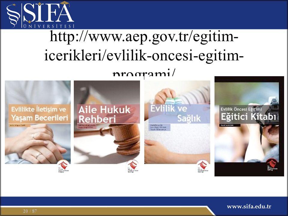 http://www.aep.gov.tr/egitim- icerikleri/evlilik-oncesi-egitim- programi/ / 8720