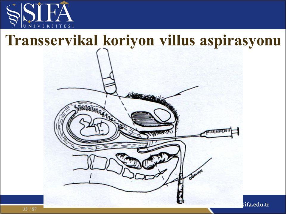 Transservikal koriyon villus aspirasyonu / 8733