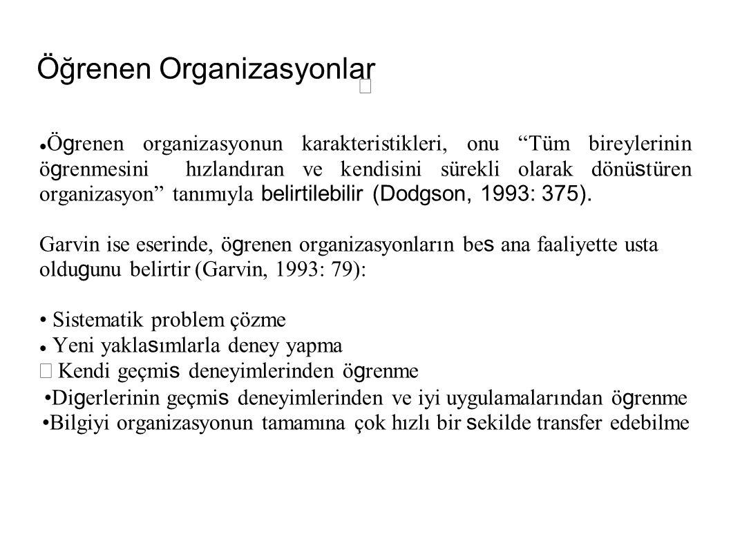 Ögrenen Organizasyonların Özellikleri 1.