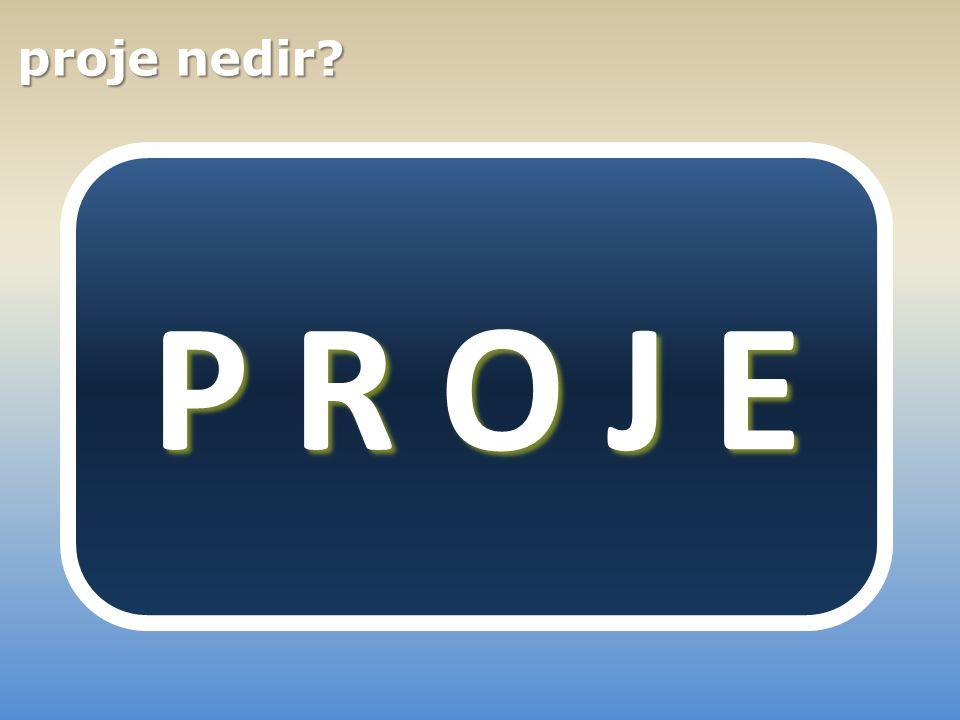 süre Belirli bir süre içinde, bütçe belirli bir bütçe ile hedeflere net olarak tanımlanan hedeflere ulaşmaya yönelik planlanan faaliyetler bütünü proje P R O J E
