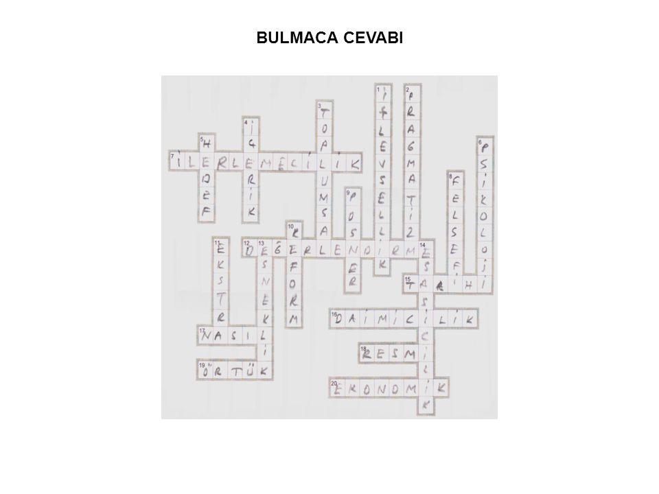 BULMACA CEVABI