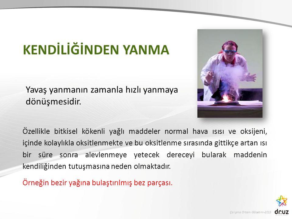 Çalışma Ortamı Gözetimi-2013 PATLAMANIN ÖNLENMESİ 2.