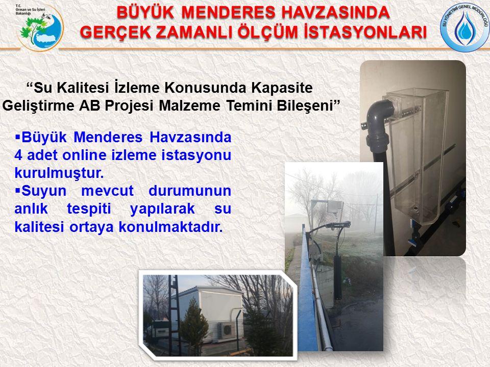  Büyük Menderes Havzasında 4 adet online izleme istasyonu kurulmuştur.