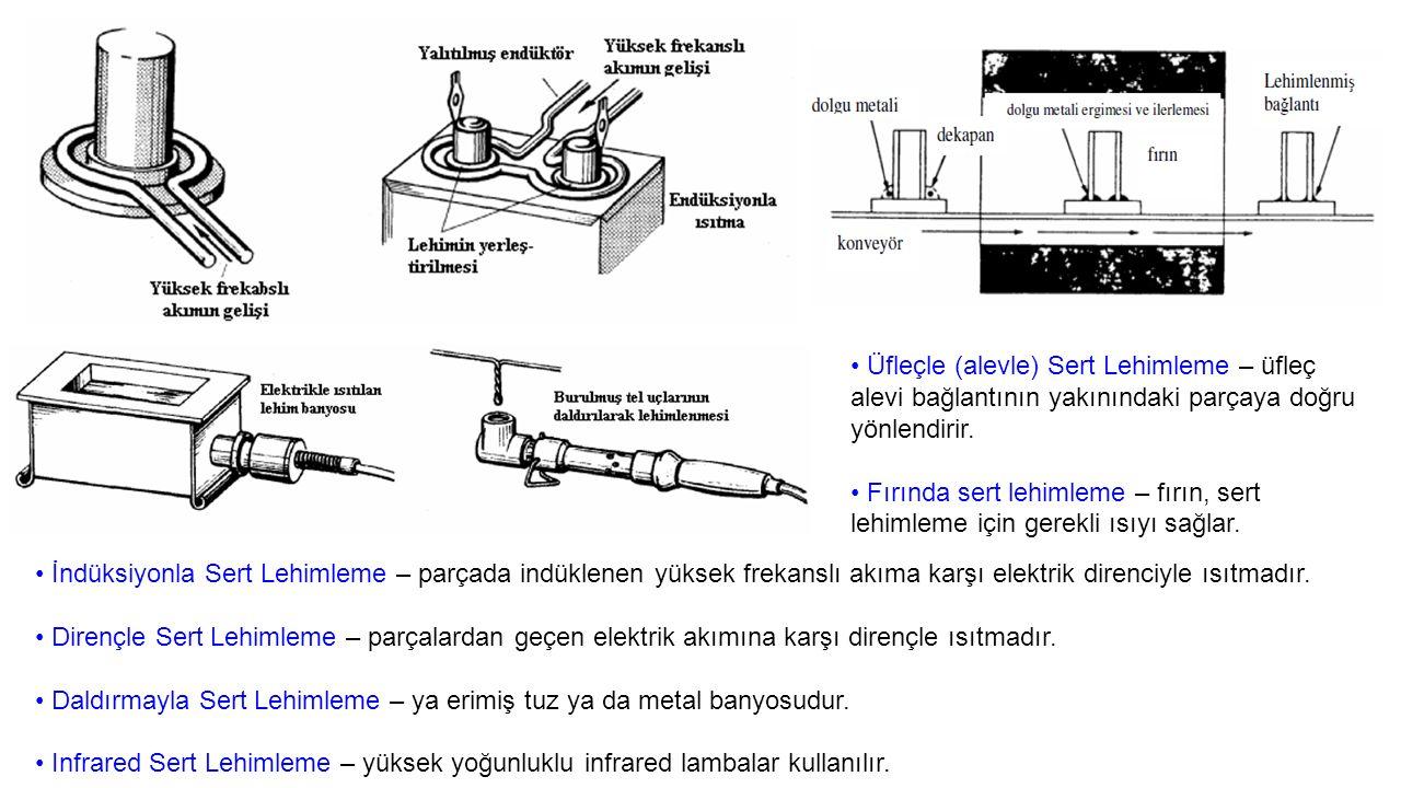 Üfleçle (alevle) Sert Lehimleme – üfleç alevi bağlantının yakınındaki parçaya doğru yönlendirir.