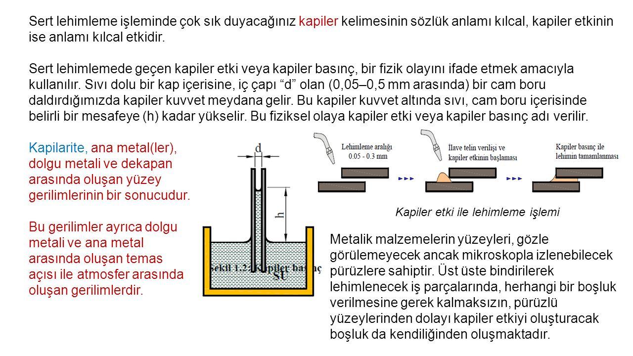 Burada dikkat edilmesi gereken en önemli husus, ısının etkisiyle metalik parçaların genleşerek, lehimleme aralığının genişlemesi veya daralmasıdır.