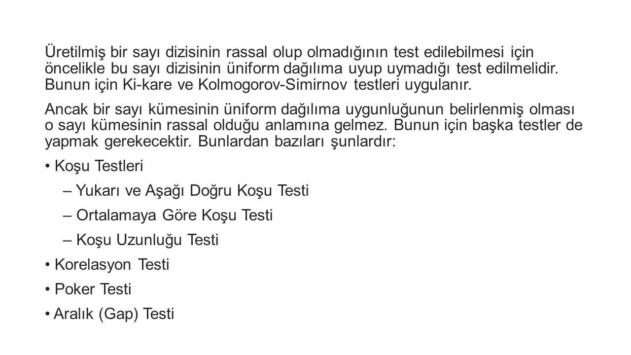 Koşu Testleri Koşu testlerine geçmeden önce konuyla ilgili bazı kavramlar üzerinde durulması uygun olur.