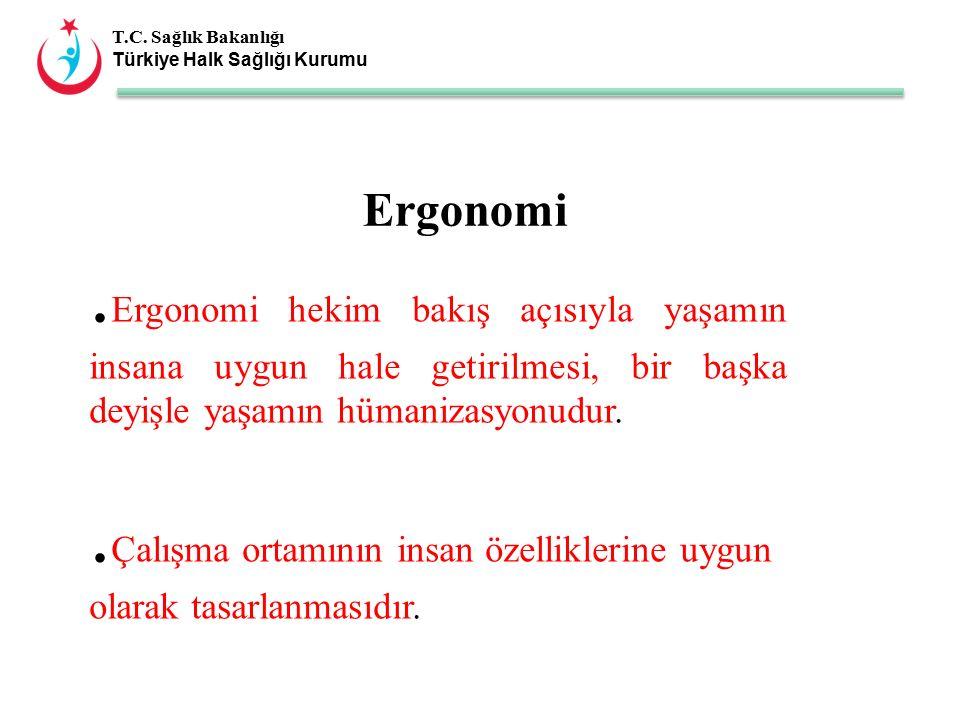 T.C. Sağlık Bakanlığı Türkiye Halk Sağlığı Kurumu Ergonomi.
