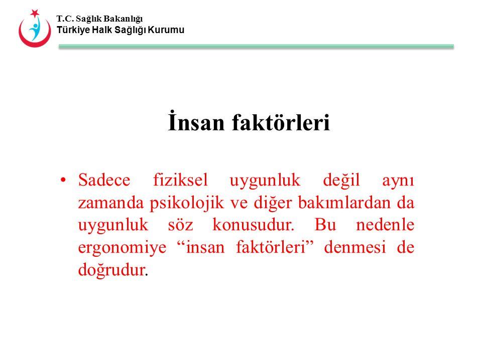 T.C. Sağlık Bakanlığı Türkiye Halk Sağlığı Kurumu Sadece fiziksel uygunluk değil aynı zamanda psikolojik ve diğer bakımlardan da uygunluk söz konusudu