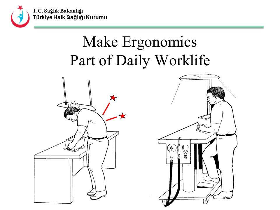 T.C. Sağlık Bakanlığı Türkiye Halk Sağlığı Kurumu Make Ergonomics Part of Daily Worklife
