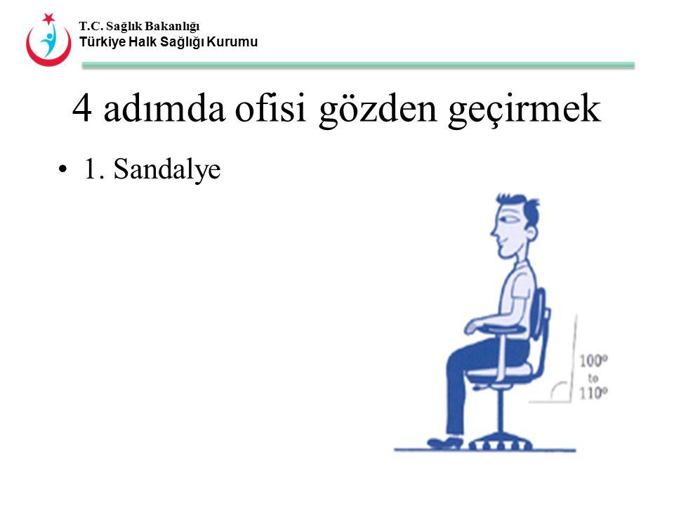 T.C. Sağlık Bakanlığı Türkiye Halk Sağlığı Kurumu 4 adımda ofisi gözden geçirmek 1. Sandalye