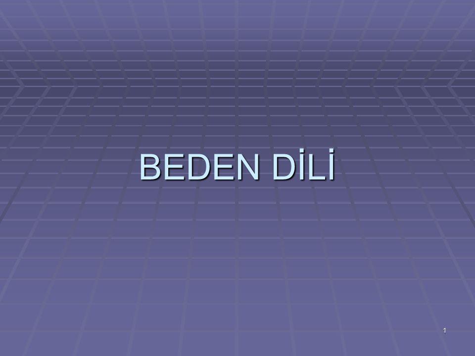1 BEDEN DİLİ