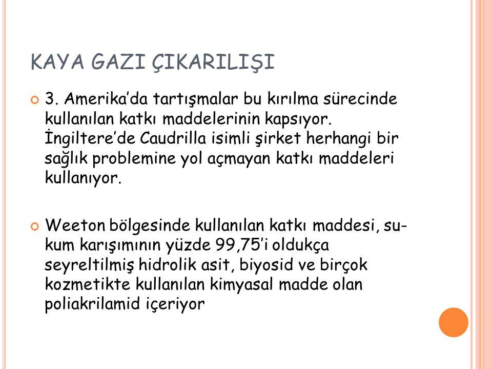 KAYA GAZI ÇIKARILIŞI 3.