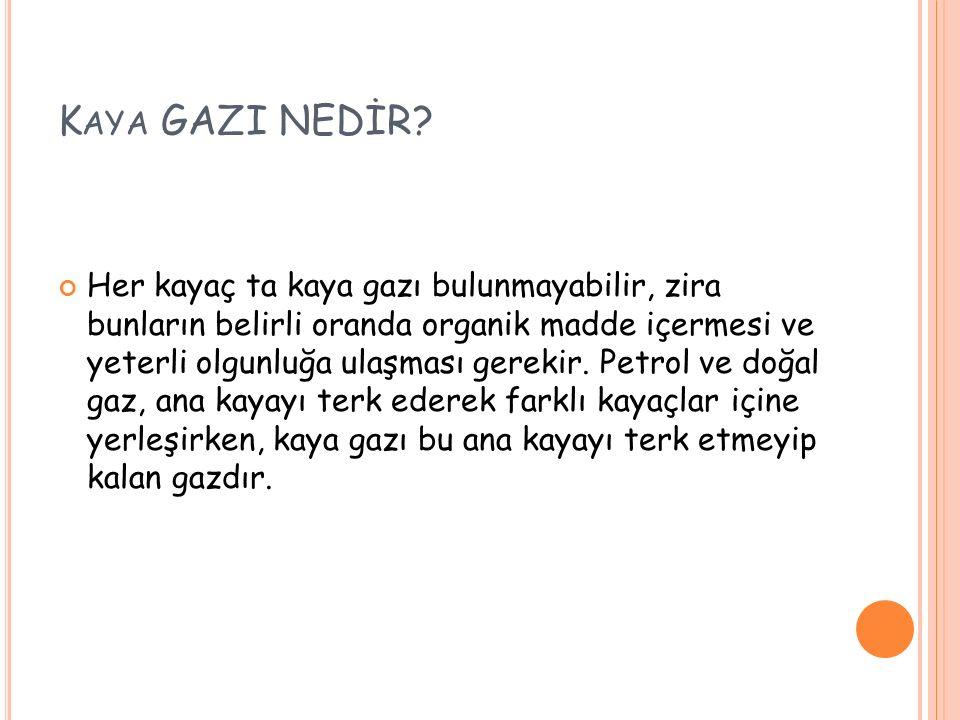 KAYA GAZI'NIN ÇIKARILIŞI 1.