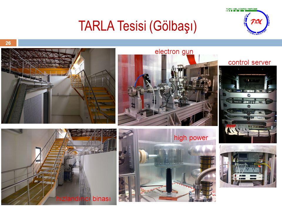 26 TARLA Tesisi (Gölbaşı) electron gun high power control server hızlandırıcı binası