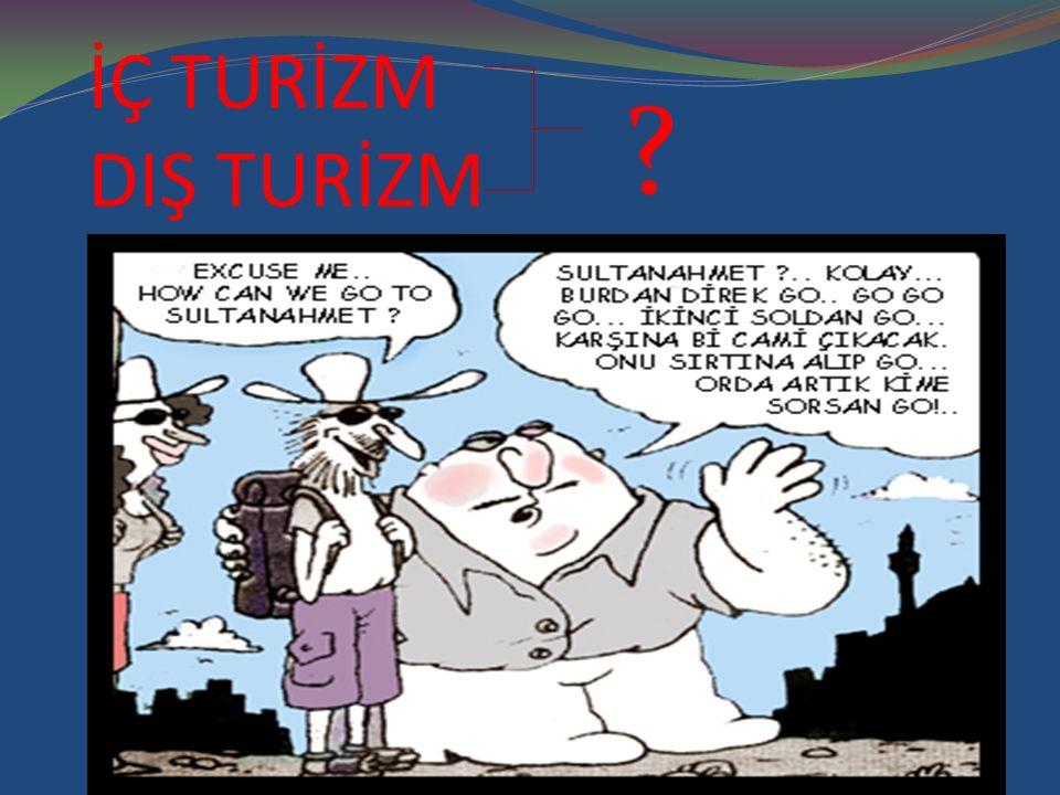 İÇ TURİZM: Ülke içinde yapılan turizm...