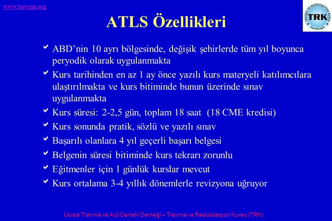 Ulusal Travma ve Acil Cerrahi Derneği – Travma ve Resüsitasyon Kursu (TRK) www.travma.org TRK 126 - Eskişehir TRK 128 - İzmir TRK 129 - Ankara TRK 132 - Antalya