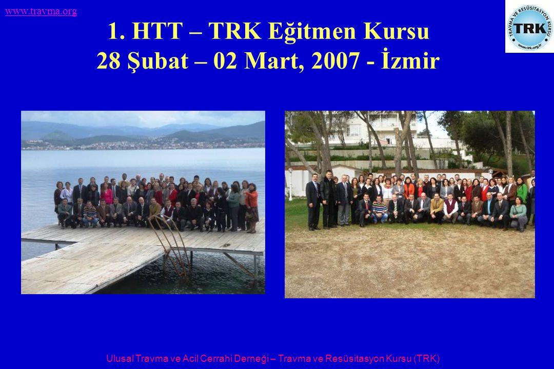 Ulusal Travma ve Acil Cerrahi Derneği – Travma ve Resüsitasyon Kursu (TRK) www.travma.org 1. HTT – TRK Eğitmen Kursu 28 Şubat – 02 Mart, 2007 - İzmir