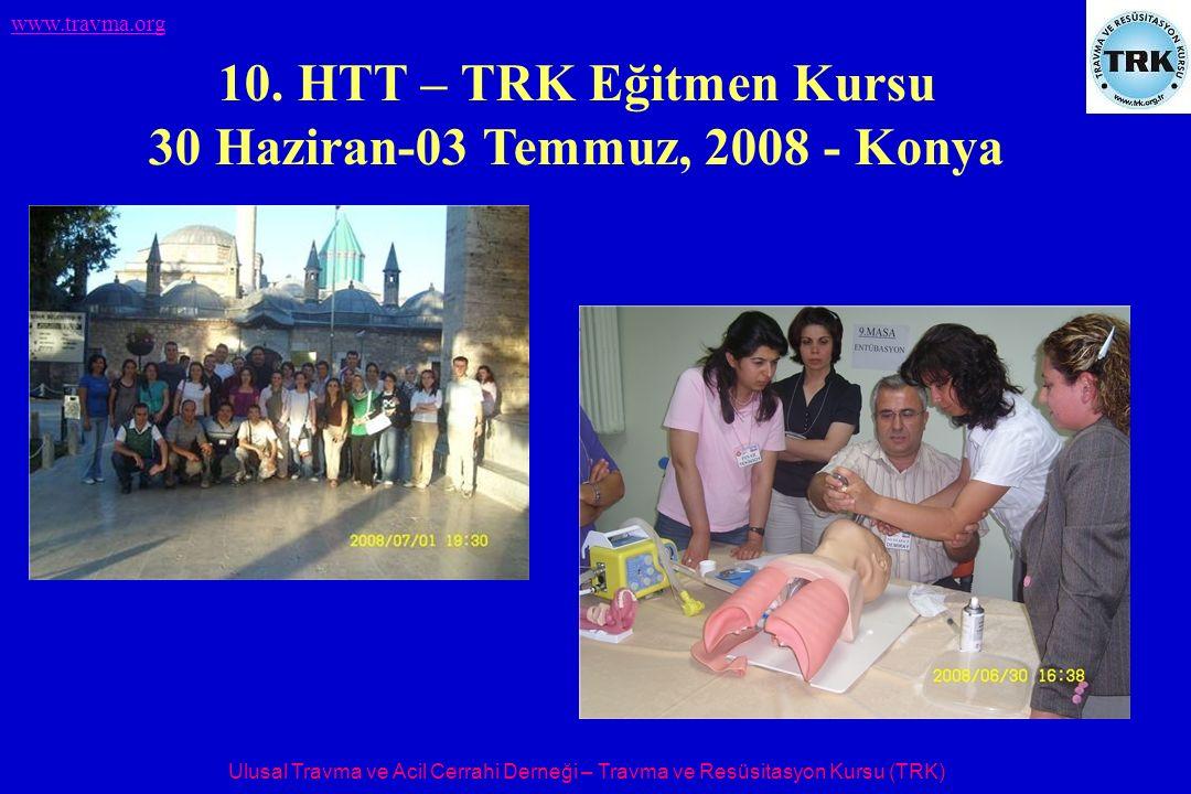 Ulusal Travma ve Acil Cerrahi Derneği – Travma ve Resüsitasyon Kursu (TRK) www.travma.org 10.