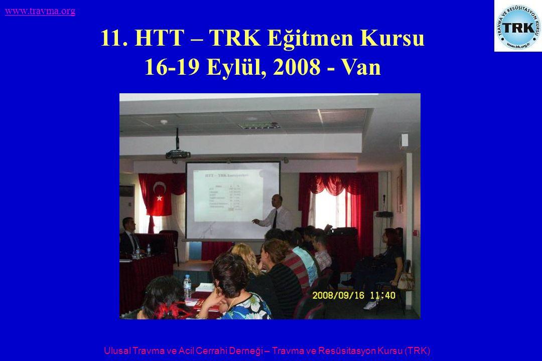 Ulusal Travma ve Acil Cerrahi Derneği – Travma ve Resüsitasyon Kursu (TRK) www.travma.org 11. HTT – TRK Eğitmen Kursu 16-19 Eylül, 2008 - Van