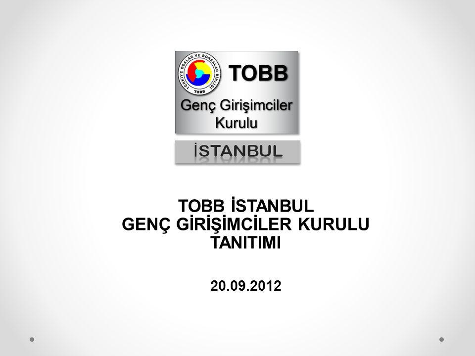 TOBB İSTANBUL GENÇ GİRİŞİMCİLER KURULU TANITIMI 20.09.2012