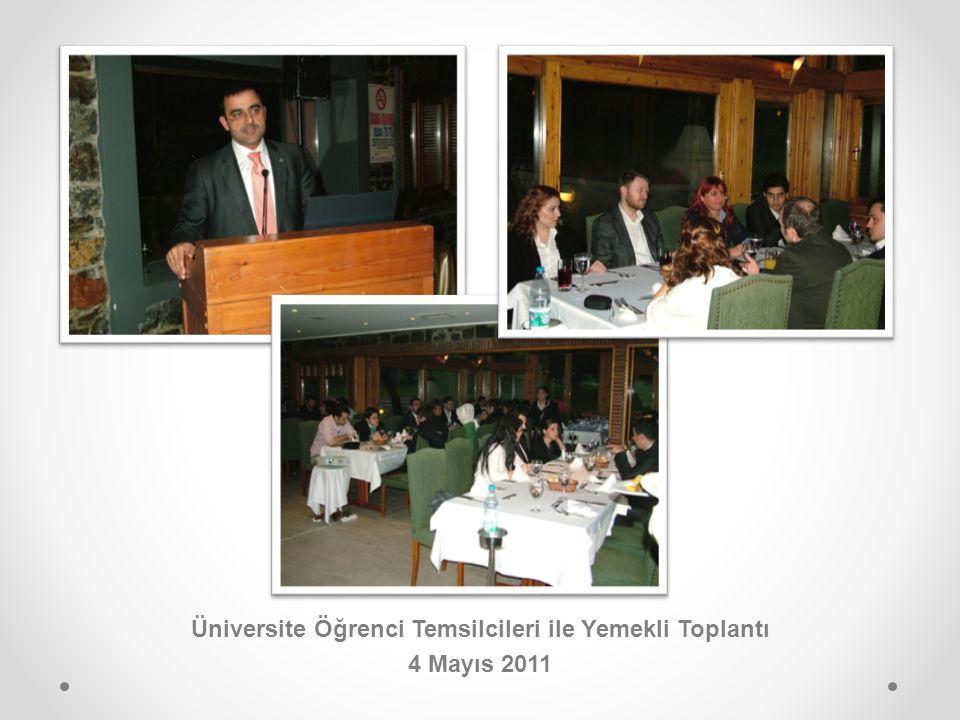 Üniversite Öğrenci Temsilcileri ile Yemekli Toplantı 4 Mayıs 2011