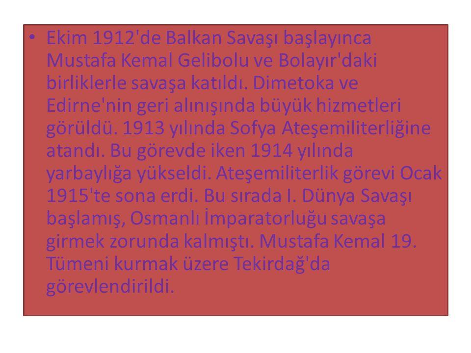 Atatürk, 24 Nisan 1920 ve 13 Ağustos 1923 tarihlerinde TBMM Başkanlığına seçildi.