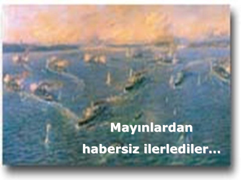 Yüzbaşı Hakkı Nusrat'la Türk'ün kaderini düşünerek geceden dokumuştu mayınlarla boğazı… Nusrat'la Türk'ün kaderini düşünerek geceden dokumuştu mayınlarla boğazı…