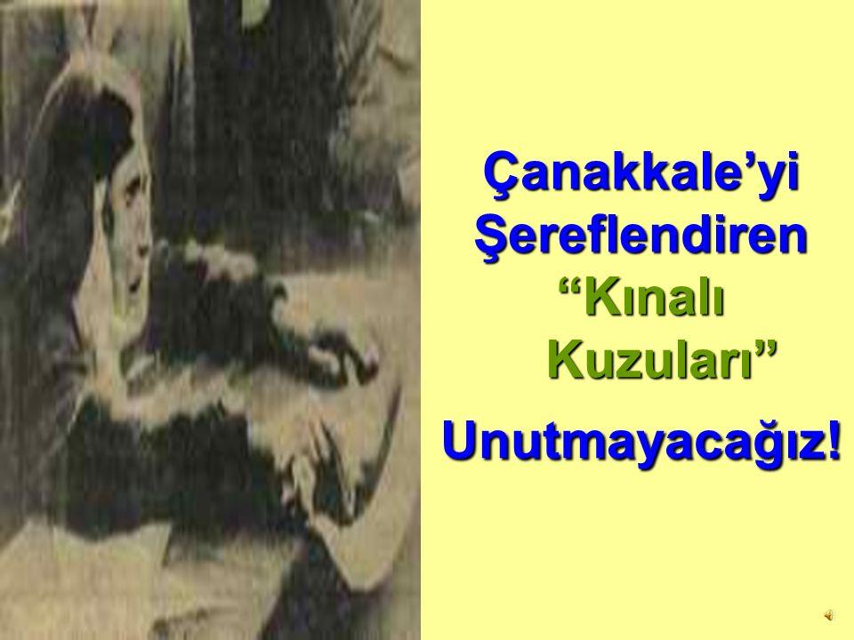 Çanakkale'yi Şereflendiren Kınalı Kuzuları Unutmayacağız!