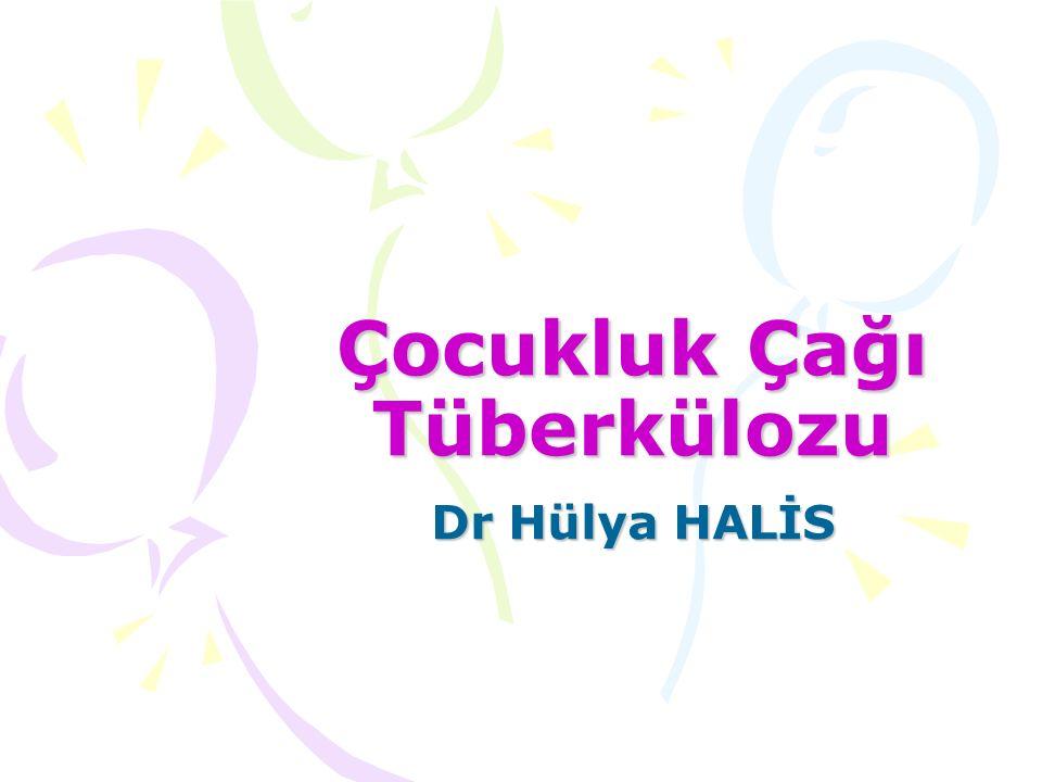 Çocukluk Çağı Tüberkülozu Dr Hülya HALİS
