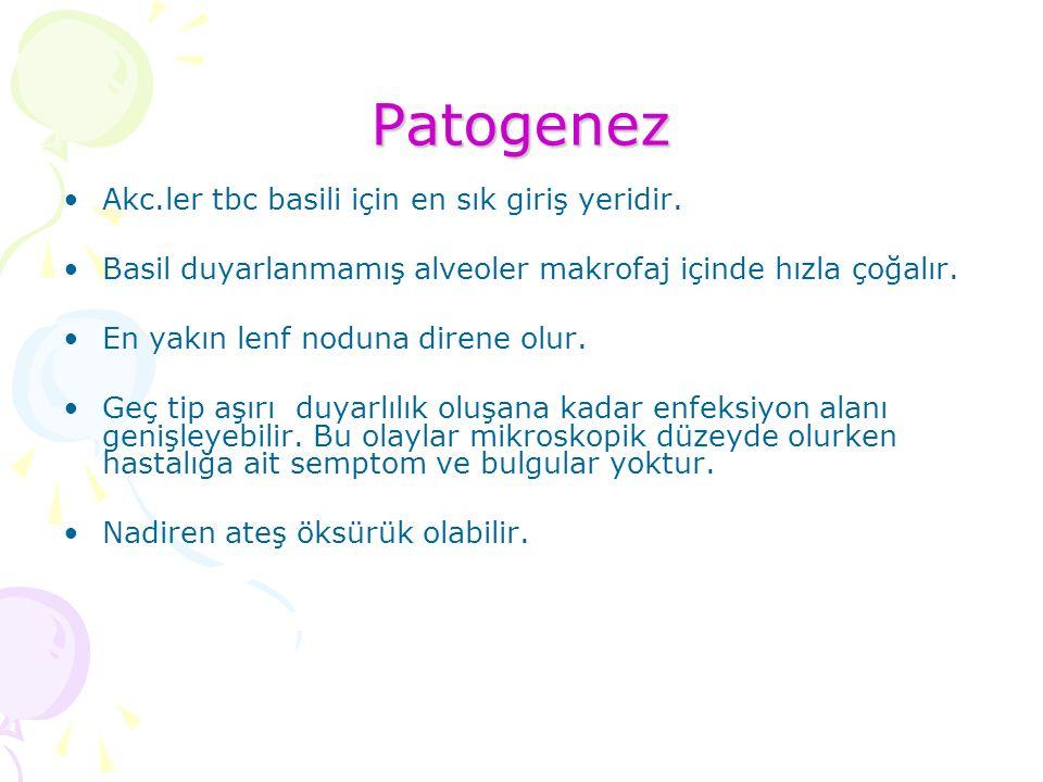 Patogenez Akc.ler tbc basili için en sık giriş yeridir.