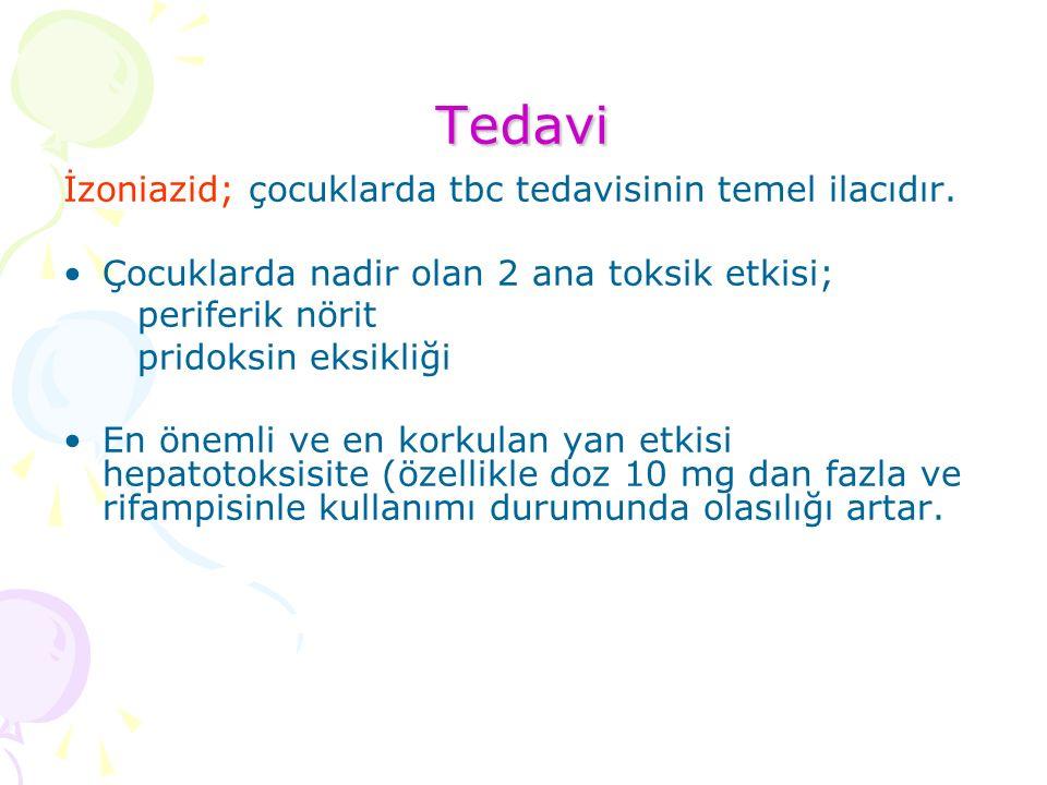 Tedavi İzoniazid; çocuklarda tbc tedavisinin temel ilacıdır.