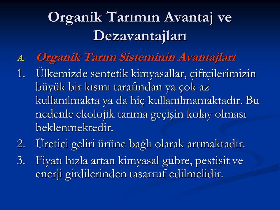 Organik Tarımın Avantaj ve Dezavantajları A.