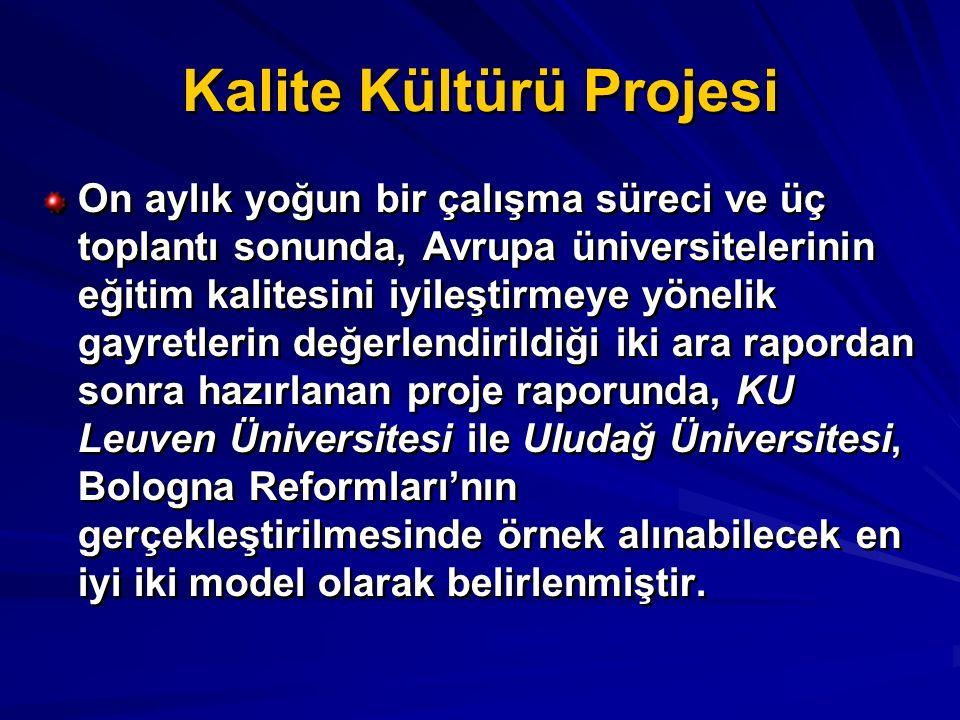 Kalite Kültürü Projesi On aylık yoğun bir çalışma süreci ve üç toplantı sonunda, Avrupa üniversitelerinin eğitim kalitesini iyileştirmeye yönelik gayr