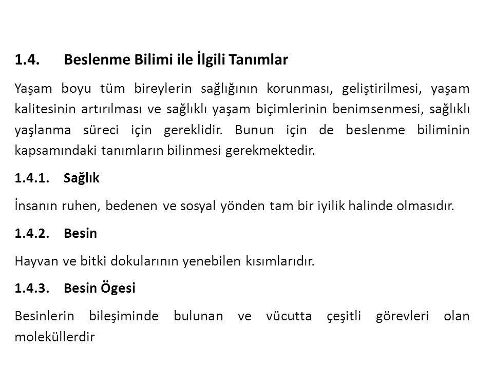 Türk halkının beslenme durumuna bakıldığında temel besin ekmek ve diğer tahıl ürünleridir.