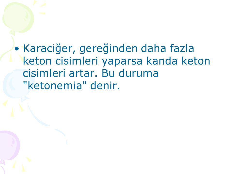 Karaciğer, gereğinden daha fazla keton cisimleri yaparsa kanda keton cisimleri artar.