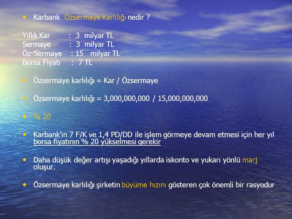 Karbank Özsermaye Karlılığı nedir .
