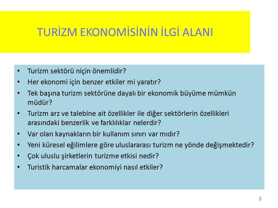 1 Turizm Ekonomisi Yrd. Doç Dr. Salih AK Atılım Üniversitesi Uluslararası Ticaret ve Lojistik Bölümü salih.ak@atilim.edu.tr