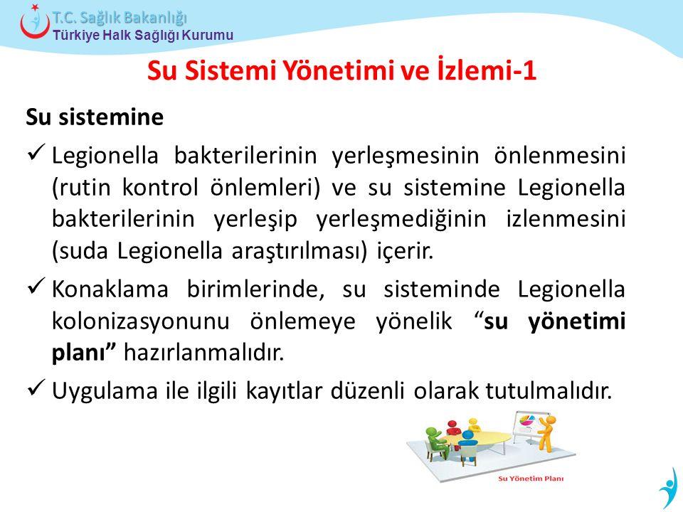 Türkiye Halk Sağlığı Kurumu T.C. Sağlık Bakanlığı Su Sistemi Yönetimi ve İzlemi-1 Su sistemine Legionella bakterilerinin yerleşmesinin önlenmesini (ru