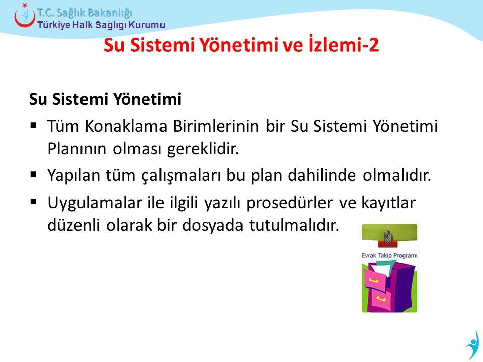 Türkiye Halk Sağlığı Kurumu T.C. Sağlık Bakanlığı Su Sistemi Yönetimi ve İzlemi-2 Su Sistemi Yönetimi  Tüm Konaklama Birimlerinin bir Su Sistemi Yöne